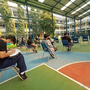 Kegiatan Vaksin Covid-19 di Sekolah Citra Berkat Tangerang